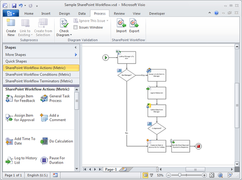 Overview Of Process Management In Microsoft Visio 2010 Part 2