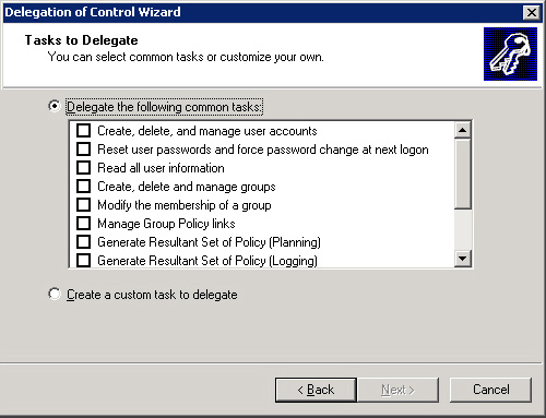 Windows Server 2003 : Managing Daily Operations - Delegating Control