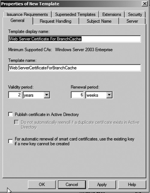 Windows server 2008 r2 and windows 7 deploying branchcache part 2 naming new certificate template yadclub Image collections