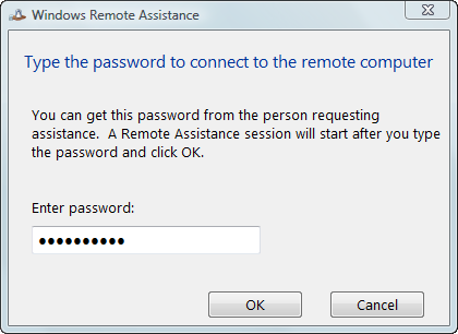 Windows Remote Assistance Description Step