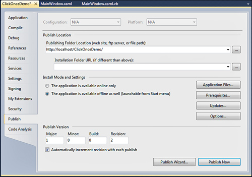 Visual Basic 2010 : Deploying Applications with ClickOnce