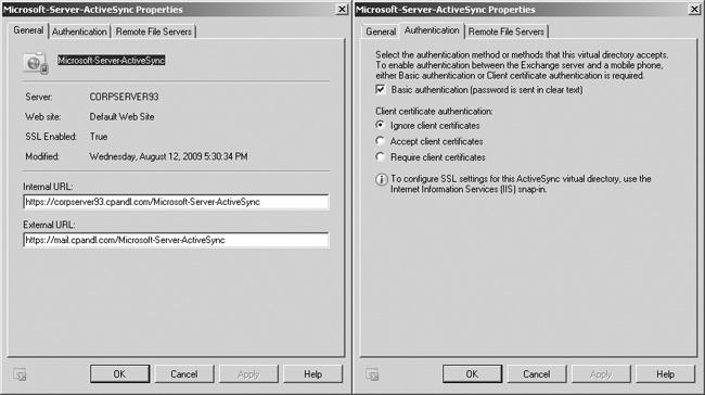 Configure Exchange ActiveSync.