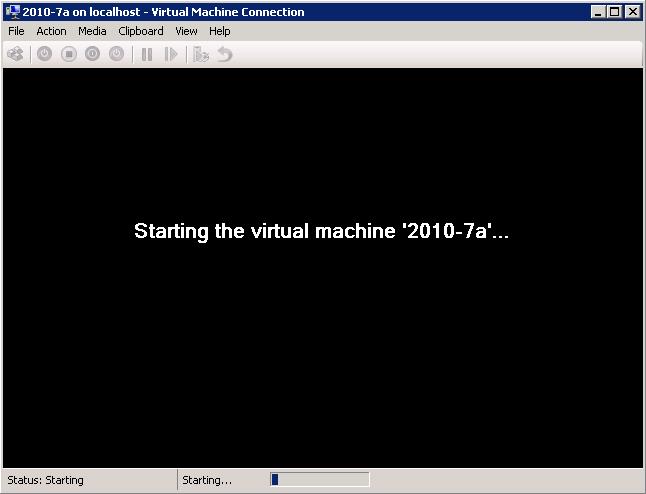 To restore VM 2010-7a.vhd